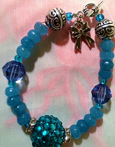 Faceted Round Agate (Grade B) Natural/Dyed Malachite Green Bead Bracelet