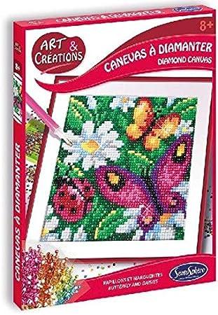 Sentosphere- Juego de manualidades con piedras brillantes de imitación de flores y mariposas, Multicolor (2026) , color/modelo surtido: Amazon.es: Juguetes y juegos