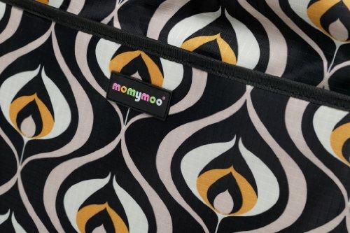 Momymoo Mono - Bolso cambiador, color negro