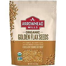 Arrowhead Mills Organic Golden Flax Seeds, 14 oz. Bag (Pack of 6)