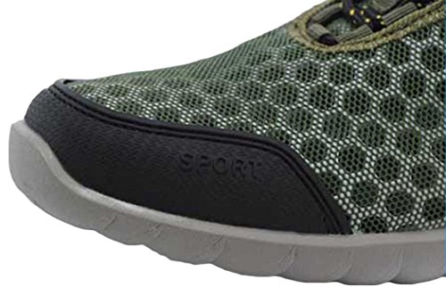 Rock Me Men's Honeycomb I Creative Adjustable Shoelace Mesh Shoe Green 8
