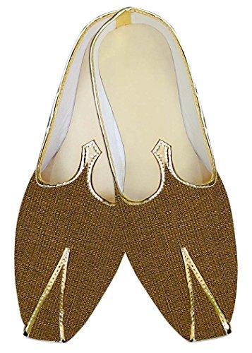Inmonarch Mens Golden Wedding Indian Shoes Mj013251