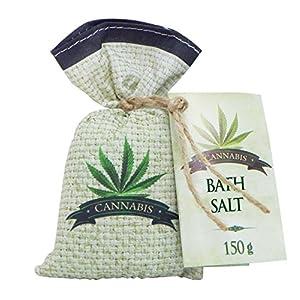 Cannabis Bath Salt 150 g with hemp seed oil &#8211...