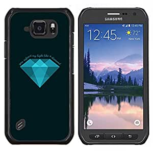 TECHCASE---Cubierta de la caja de protección para la piel dura ** Samsung Galaxy S6 Active G890A ** --Diamante Azul