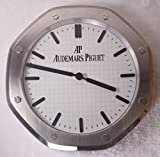 Audemars Piguet Silent Sweep Wall Clock, Silver+White