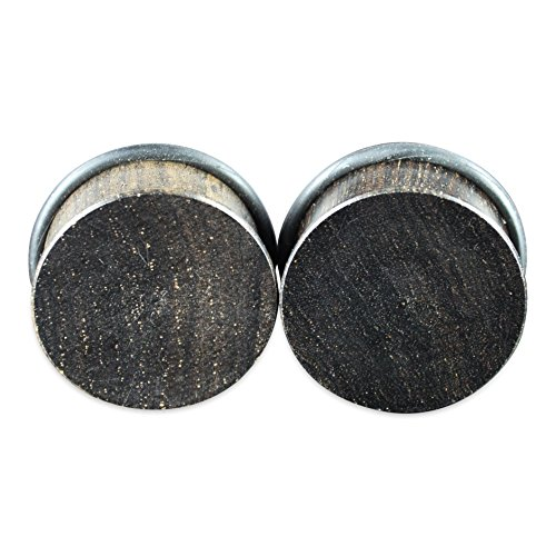 Wood Single Flare (Ebony Single Flare Natural Organic Wood Ear Gauges Plugs)