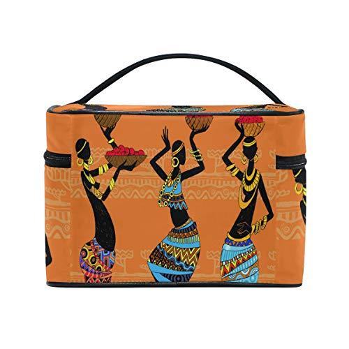 fe03693891c2 Amazon.com : BETTKEN Makeup Bag African Indian Tribal Woman, Large ...