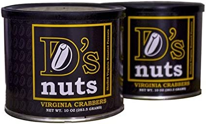 D's nuts - SXL Shelled Gourmet Virginia Crabber Peanuts - 1.25lbs