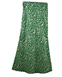 Winwinus Women's Comfort Muslim Longline Girls Islamic Bodycon Folk Style Half Skirt Green M