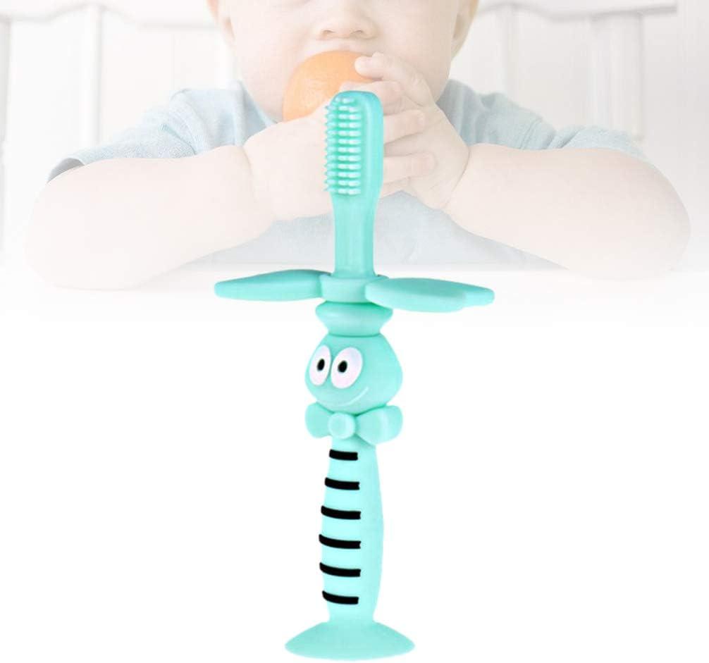 Healifty Silikon Baby Zahnb/ürste Weiche Borste Mundmassageger/ät Bei/ßring Neugeborenen Kinderkrankheiten Spielzeug f/ür Kind Blau Biene Stil