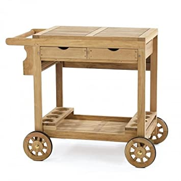 Amazon.com - Westminster Teak Alicante Trolley Cart - Bar ...