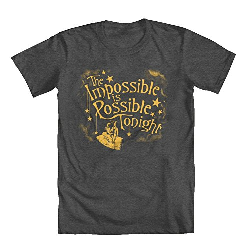 GEEK TEEZ Impossible is Possible Tonight Men's T-Shirt Charcoal Medium