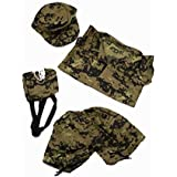 """Special Forces Camos Outfit Teddy Bear Clothes Fit 14"""" - 18"""" Build-a-bear, Vermont Teddy Bears, and Make Your Own Stuffed Animals"""