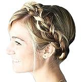 BRAID PLAITED CHUNKY HAIR HEADBAND (16 Ash Blonde Mix)