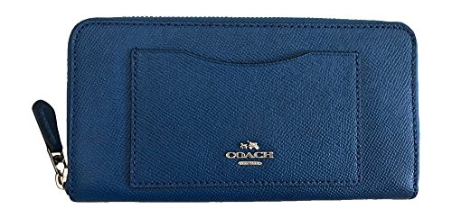 Coach Crossgrain Leather Accordian Zip Wallet, Bright Mineral by Coach