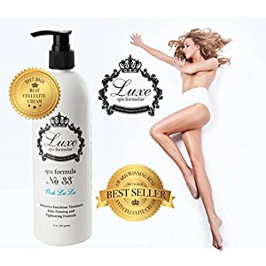 Luxe Spa Formulas Cellulite Cream - Skin Firming Lotion - 16oz. pump - Organic Anti-Cellulite Treatment for Thighs, Legs, Arms and Body - All Natural Ingredients And Essential Oils