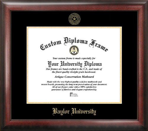 Campus Images TX955GED Baylor University Embossed Diploma Frame, 11