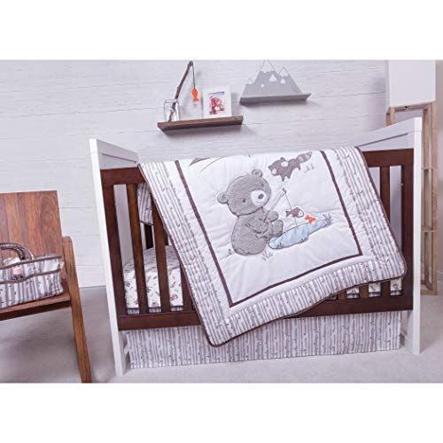Trend Lab 3 Piece Crib Bedding Set, Gone Fishing