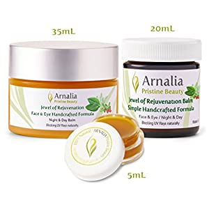 ARNALIA 100% Natural & Organic, Anti Wrinkle, Anti Aging Cream & Moisturizer - Cosmetics Skin Care Products, Best Eye & Face Care Balm for Wrinkles, Age Spots & All Skin Types - Wild Grown - (20ml)