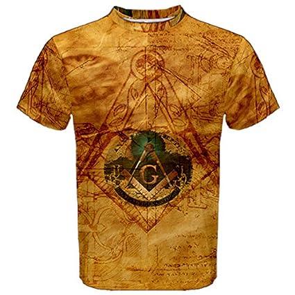 137fa75eb Davinci Code Masonic Freemason Full 3D Sublimation Men T-Shirt Full 3D  Custom Print T