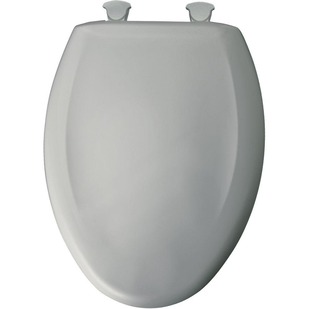 grey soft close toilet seat. Bemis 1200SLOWT 062 Slow Close Sta Tite Elongated Closed Front Toilet Seat  Ice Grey Church Seats Soft Amazon com