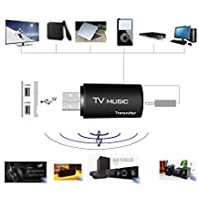 USB Bluetooth Stereo Audio Transmitter Wireless Music Box Dongle Adapter for TV MP3 PC