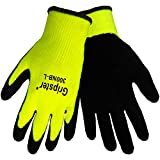 Global Glove 300NB Gripster Rubber Glove, Work, Large, Neon/Black (Case of 72)
