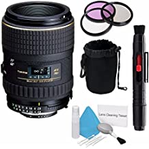 Tokina 100mm f/2.8 at-X M100 AF Pro D Macro Autofocus Lens for Nikon AF-D (International Model) +Deluxe Cleaning Kit + Lens Cleaning Pen + 55mm 3 Piece Filter Kit+Deluxe Lens Pouch