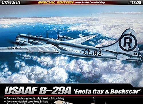 Academy Hobby Model Kits Scale Model : Airplane & Jet Kits (1/72 B-29A Enola Gay & Bockscar) (B29 Model Airplane Kit)