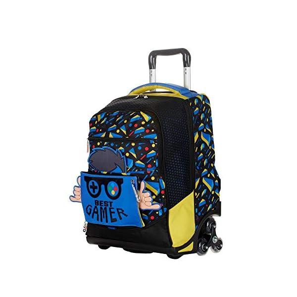 Trolley Zaino Scuola GOPOP GAMER PIXEL GIOCHI PREZIOSI con pop-up + omaggio portachiave girabrilla + omaggio penna… 1 spesavip