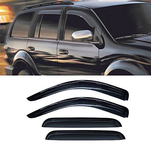 Alxiang 4p Sun/Rain Guard Window Visor Fit 98-03 Durango 00-04 Dakota Crew/Quad Cab ()