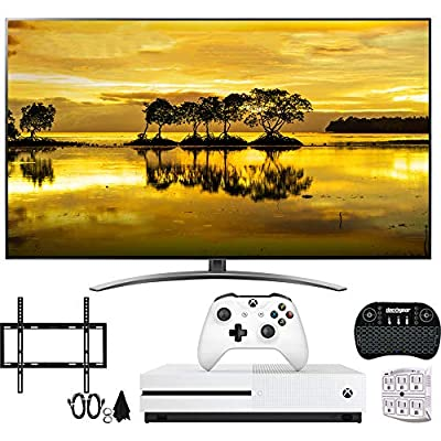 4K HDR Smart LED NanoCell TV w/AI ThinQ (2019) w/Xbox Bundle Includes, Microsoft Xbox One S 1TB, Flat Wall Mount Kit Ultimate Bundle for 45-90 inch TVs and More