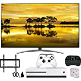 LG 65SM9000PUA 65' 4K HDR Smart LED NanoCell TV w/AI ThinQ (2019) w/Xbox Bundle Includes, Microsoft Xbox One S 1TB, Flat Wall Mount Kit Ultimate Bundle for 45-90 inch TVs and More