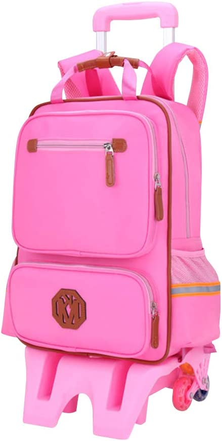 """Backpack With Wheels Girls Rolling School Bag Travel Luggage Back Pack 17/"""" Kids"""