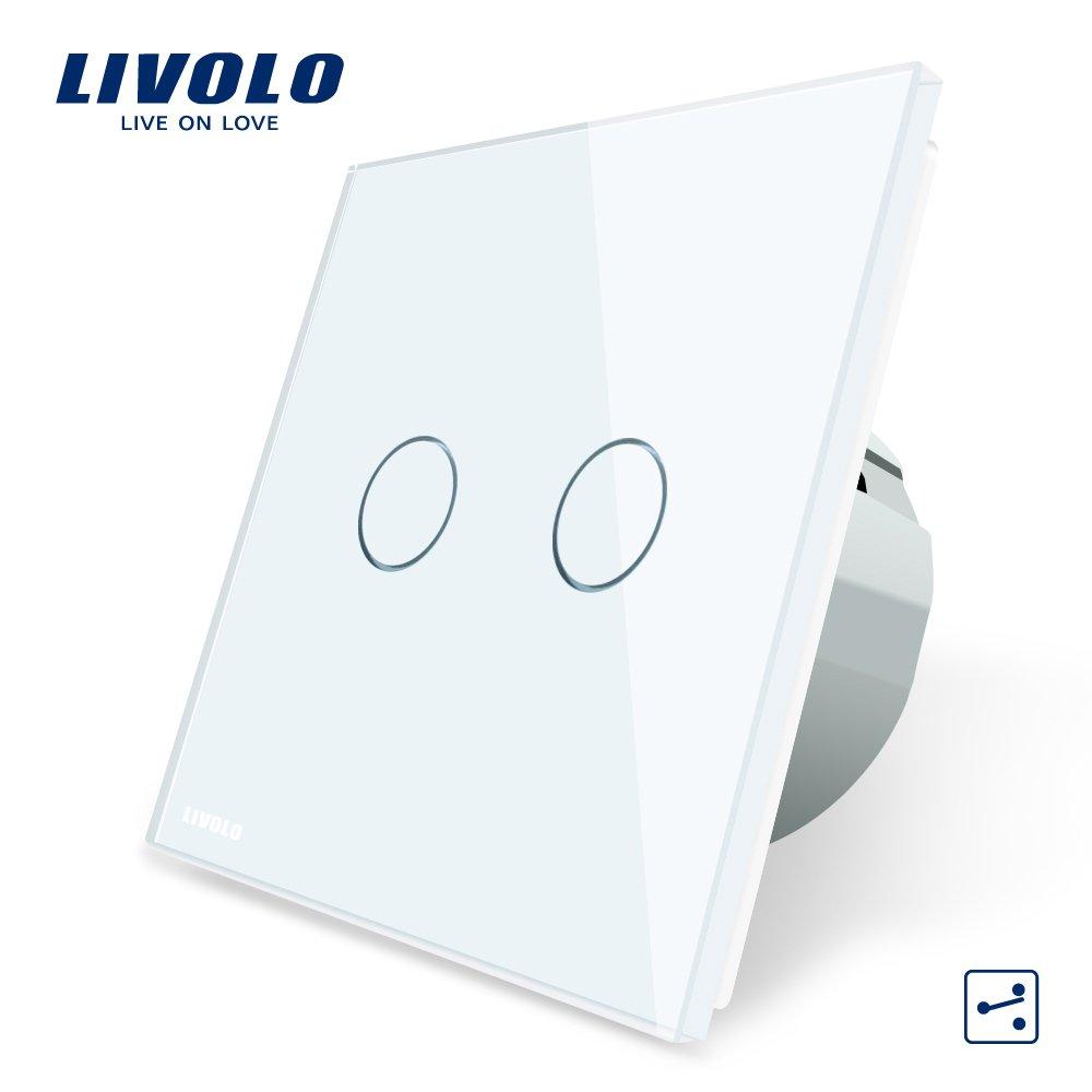 LIVOLO Weiss Wechselschalter/Kreuzschalter mit LED Anzeige Licht ...