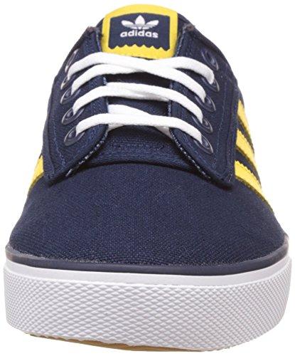 adidas Unisex Adults' Kiel Low-Top Sneakers Blue (Collegiate Navy/Spring Yellow/Ftwr White) 8tB8Q