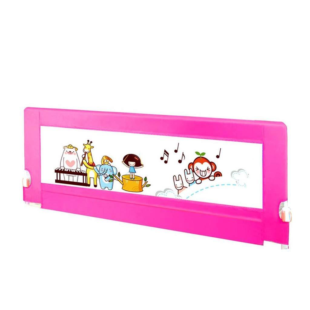 PENGJUN 安全フェンス子供ガードレールベッドバッフル赤ちゃんの秋の保護ユニバーサル (色 : Pink, サイズ さいず : 1.8m) 1.8m Pink B07GXTW89P