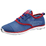 Aleader Men's Quick Drying Aqua Water Shoes Red 11 D(M) US