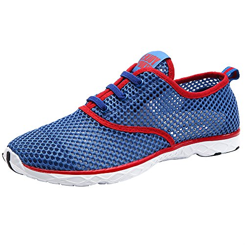 Aleader Aqua Shoes - Escapines de malla para hombre Red