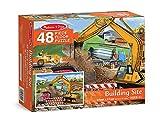 Melissa & Doug Building Site Jumbo Jigsaw Floor Puzzle (48 pcs, 2 x 3 feet long)