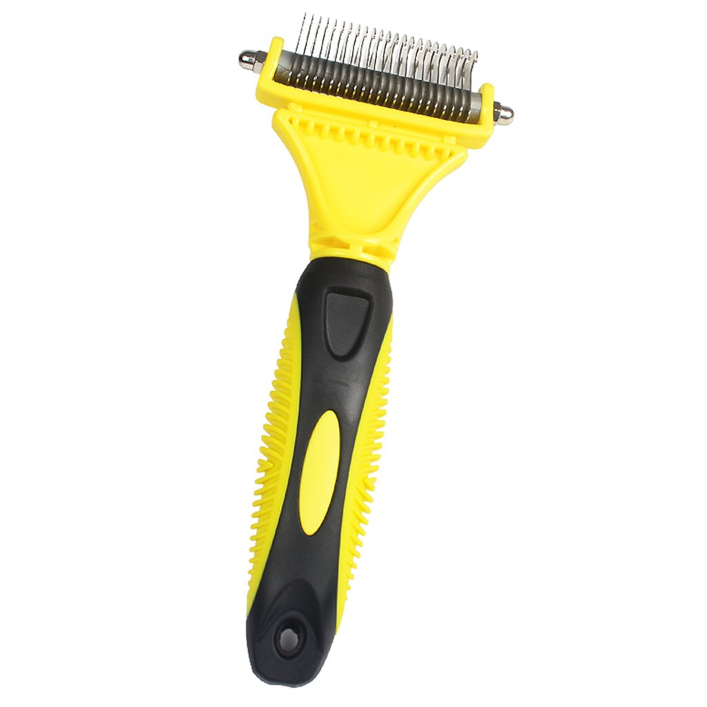Tools and Pet Grooming Brush for Small, Medium and Large Dogs and Cats(Yellow)