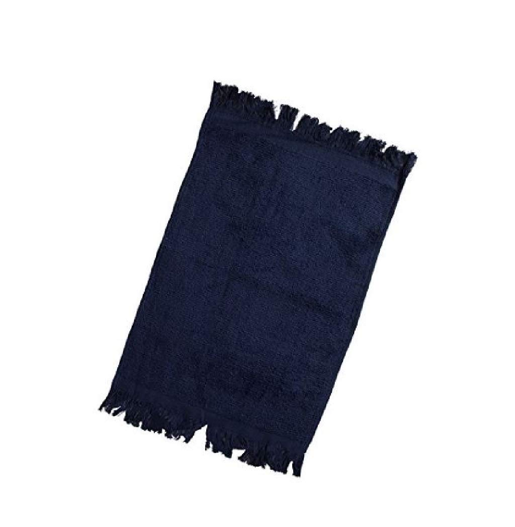 Value Pack- Hand Towels, 100% Cotton, Multipurpose Use For Hand, Face, Golf, Ideal For Everyday Use - Easy Care Machine Wash (Navy, 6)