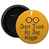 Dot Badges Button Badge Do Not Touch My Bag Muggles - Brown - 58mm Diameter