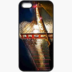Protective Case Back Cover For iPhone 5 5S Case Night Bridge Holiday Black