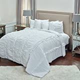 Rizzy Home QLTBQ4250WH001692 Quilt, White, King