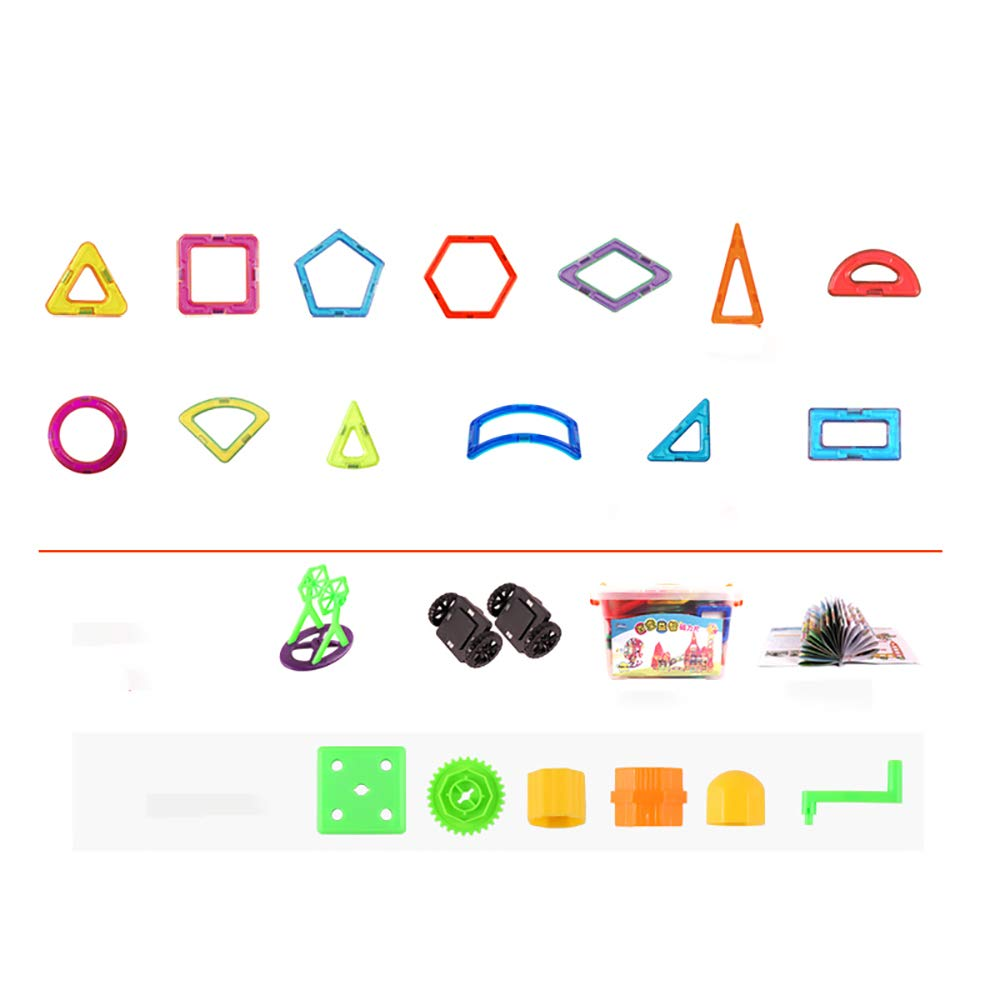 KUHU Assembling Toys Magnetic Piece Building Blocks Children's Toys Assembling Patch Magnet Puzzle Diamond 3-10 Years Old Toys 96 Tablets by KUHU (Image #4)