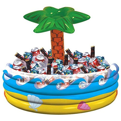amscan Palm Tree Oasis Inflatable Party Cooler, 14