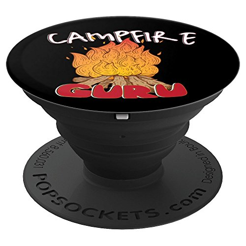 Campfire Guru PopSocket made our CampingForFoodies hand-selected list of 100+ Camping Stocking Stuffers For RV And Tent Campers!