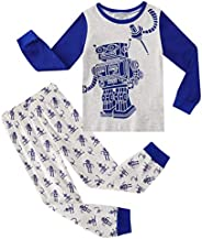Edjude Toddler Boys Pajamas Kids Dinosaur Truck 2 Piece Cotton Pjs Sets Long Sleeves Sleepwear Clothes Outfits