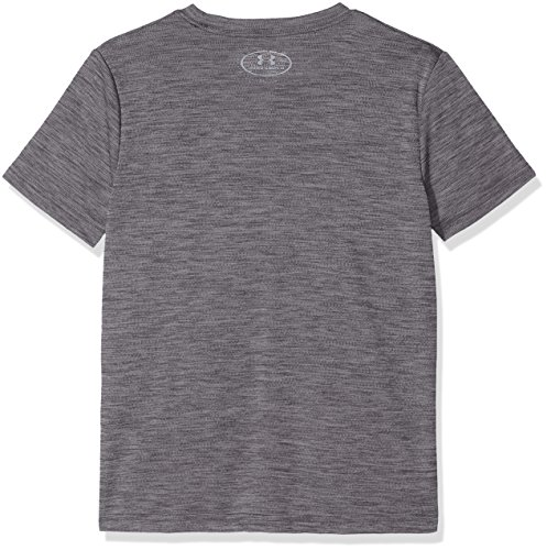 Under Armour Kids Boy's Crossfade Tee (Big Kids) Black/Steel/Stealth Gray X-Small by Under Armour (Image #2)